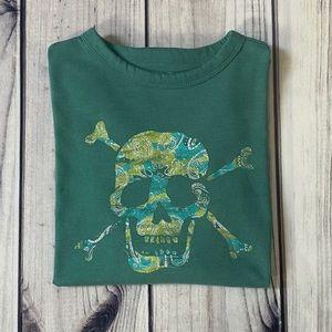 Gap Graphic Skull Long Sleeve T-Shirt